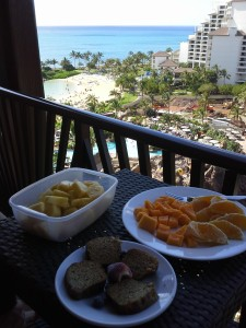 lunch in the room 225x300 7 Tips and Tricks for Eating Well While on Vacation