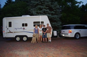 The Shroyers leaving on their road trip - Sunrise, June 8, 2012