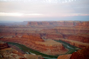 Dead Horse Point state park, near Moab UT, where we camped two nights before the heat got to us