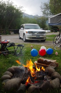 Lewis by the campfire, July 4, Jackson Hole WY.